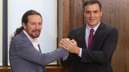 Aliados. Pedro Sánchez y Pablo Iglesias el pasado diciembre, cuando sellaron el pacto de gobierno.