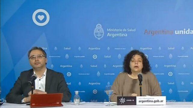 Alejandro Costa y Carla Vizzotti encabezaron el reporte de esta mañana.