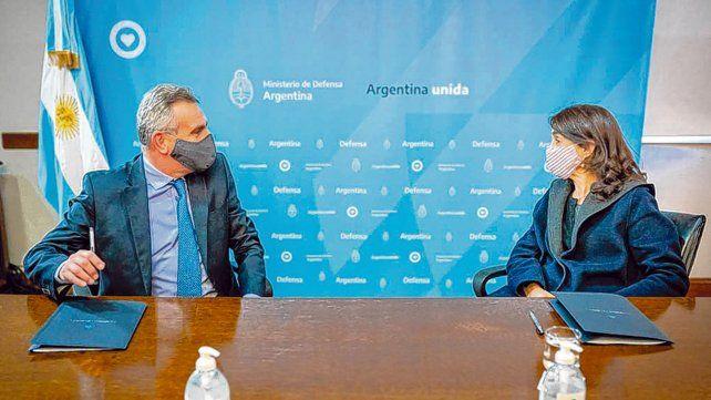 Dupla. Agustín Rossi y María Eugenia Bielsa