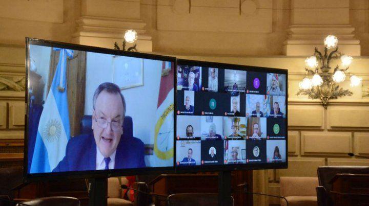 Videoconferencia. El senador Felipe Michlig encabezó la propuesta.
