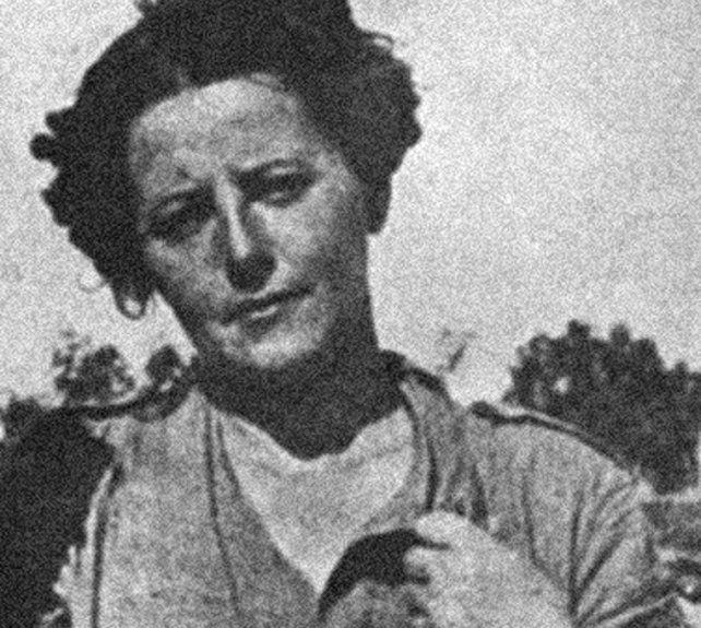 Angelines Fernández durante la lucha armada contra el franquismo en España.