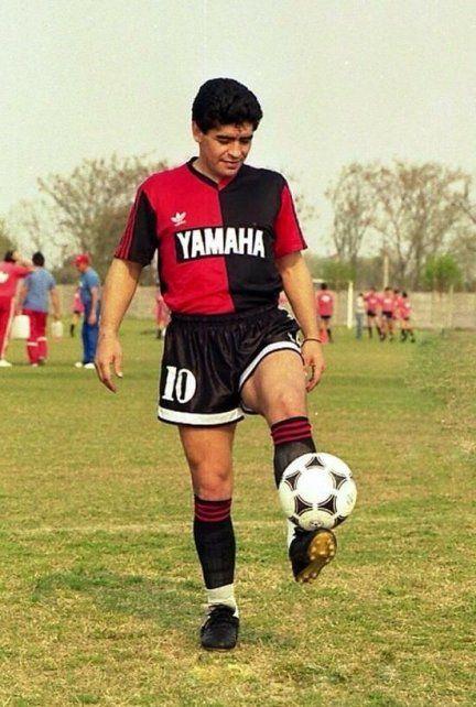 Diego jugó en Newell