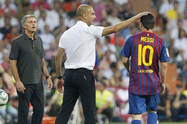 Leo Messi y su maestro Pep Guardiola.