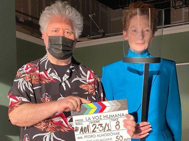Pedro Almodóvar, junto a Tilda Swinton, presentará su primera película en inglés.