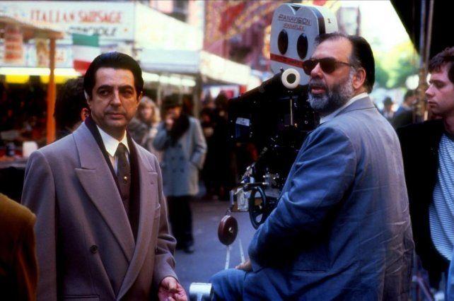 Joe Mantegna junto al director Francis Ford Coppola.