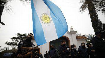 La protesta policial llegó hasta las puertas de la Quinta de Olivos