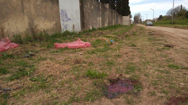El doble crimen se perpetró atrás del cementerio municipal de Granadero Baigorria