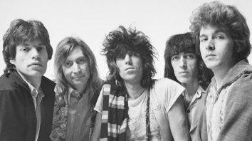 """Postal de los 70. Jagger, Charlie Watts, Keith Richards, Bill Wyman y Mick Taylor en 1973, cuando se editó """"Goats Head Soup."""