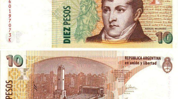Billetes de 10 pesos