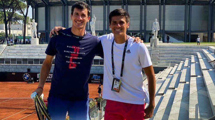 Facundo y Federico y ese abrazo de amigos tras la clasificación en el Foro Itálico de Roma.