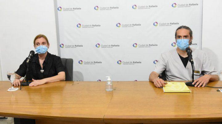 Los funcionarios Sandra Capello y Martín Racca advirtieron sobre la falta de profesionales.
