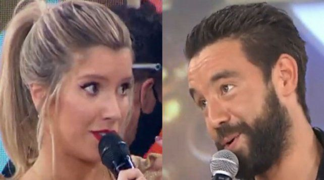 Cara a cara. Laurita Fernández y Agustín Sierra en la pista del Cantando 2020.