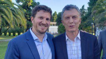 Federico Angelini y Mauricio Macri, en una imagen de la última campaña electoral.