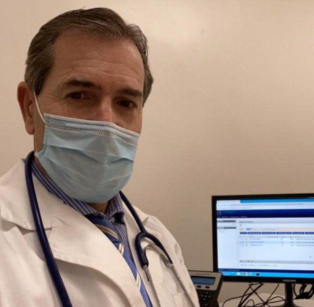 Pedro Zangroniz, jefe del servicio de Hemodinamia del Hospital Centenario e integrante del equipo de cardiología del Sanatorio Parque