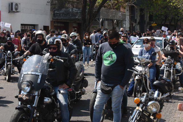 Allegados y familiares del Oso Cejas se manifestaron ayer en reclamo de justicia.