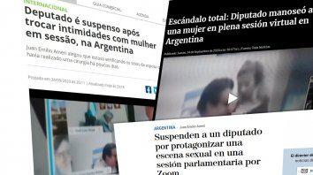 Medios internacionales hablan del escándalo que protagonizó el diputado argentino