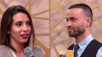Cinthia Fernández y Martín Baclini se reencontraron en el programa La previa del cantando.