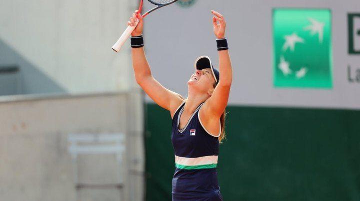 La rosarina Podoroska consiguió su primer triunfo en un Grand Slam