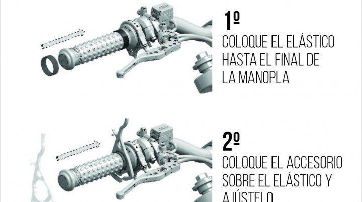 Un santafesino creó un dispositivo para que las motos mantengan la velocidad crucero
