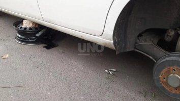 Los delincuentes atacaron en varios sectores de la ciudad.