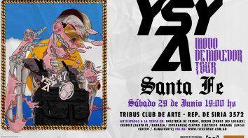 YSY A llega a Santa Fe con Modo Demoledor Tour