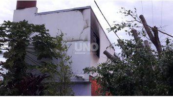 El incendio ocurrió en una vivienda de barrio Guadalupe Oeste.
