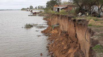 Derrumbe barrancas en Sauce Viejo. Foto: gentileza Sauce Viejo Hoy