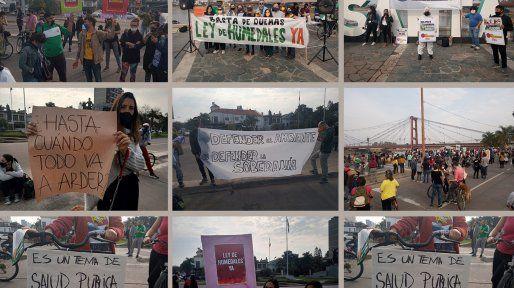 ¡Basta de quemas!: el grito de cientos de santafesinos en la costanera