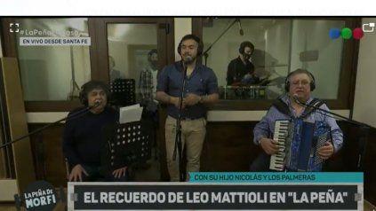 Los Palmeras y un homenaje a Leo Mattioli con su hijo Nicolás