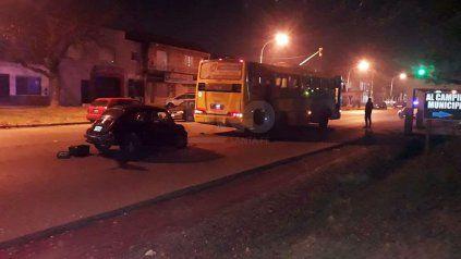 El accidente sucedióen el acceso sur de Fray Luis Beltrán