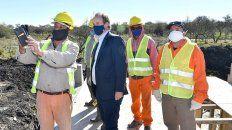 el gobernador resalto la reactivacion de las obras viales
