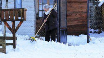 Las imágenes del frío extremo que soporta Tierra del Fuego