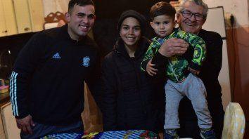 Alan Domínguez, Araceli Portorreal, Renzo Domínguez y Jorge Portorreal