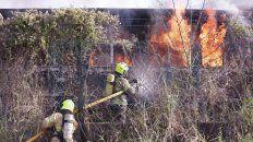 Nuevo incendio intencional en vagones del ferrocarril