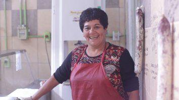 Elena Fischer, la carnicera de barrio San Agustín