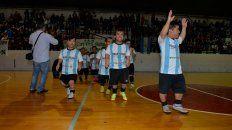 La Selección entrando a la cancha de Olimpia en Paraná.