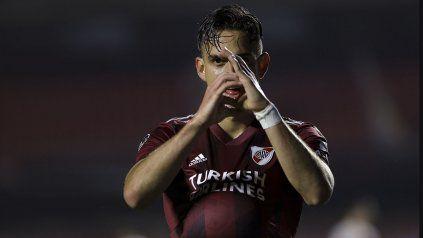 Rafael Santos Borré marcó el primer gol de River en su regreso a la Copa.