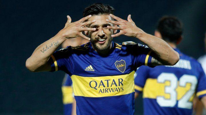 Toto Salvio fue la gran figura de Boca al marcar los dos tantos en Paraguay.