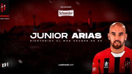 Patronato confirmó la llegada de Junior Arias