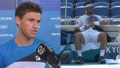 El argentino diego Schwartzman y el italiano Fabio Fognini, dos tenistas que -cada uno a su manera- se quejaron del fulminante calor.