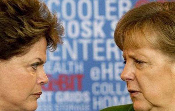 Mujeres fuertes. Las mandatarias de Brasil y Alemania encabezan la lista.