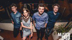 La banda. José Matteucci, Julieta Sciasci, Alexis Thompson y Bruno Moreno, integrantes de Música para Volar.