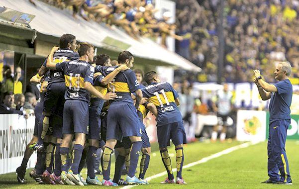 Festejo. Boca quiere repetir una jornada de fútbol y goles como la del miércoles.