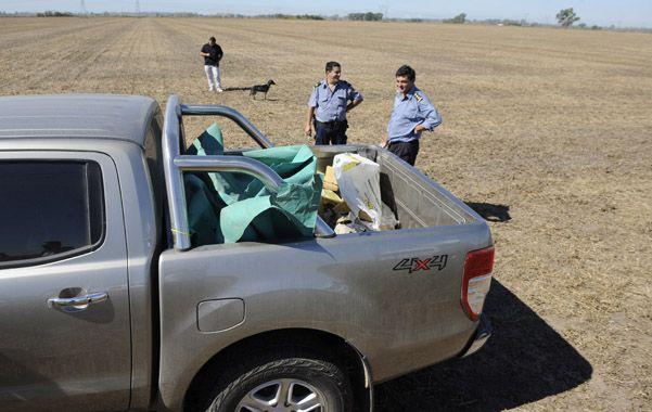 El choque. La Ranger Forcam chocó con una tranquera y sus ocupantes la dejaron ahí. No hay detenidos.