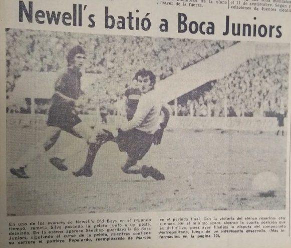 La portada del diario, después del triunfo de Newell