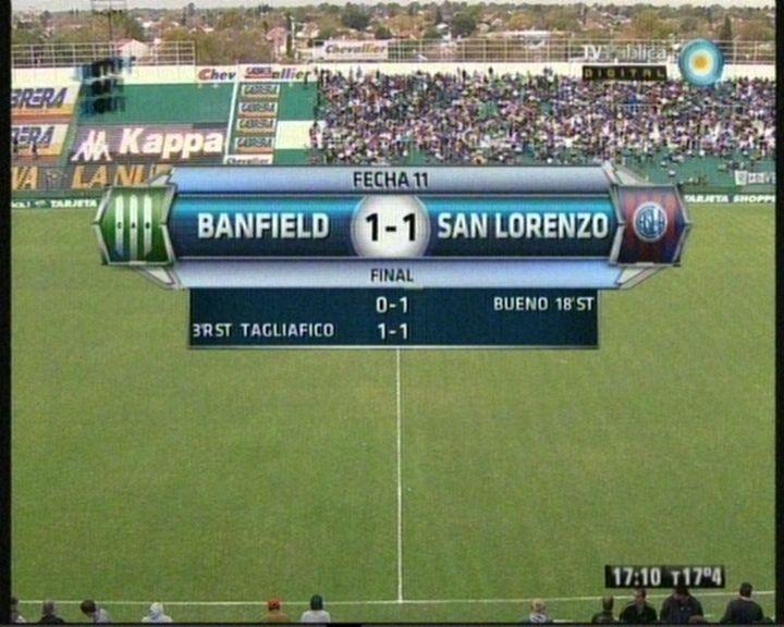 San Lorenzo se llevaba los tres puntos del sur, pero el Taladro lo empató sobre el final