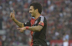 Nacho Scocco acumula cinco goles en el campeonato.