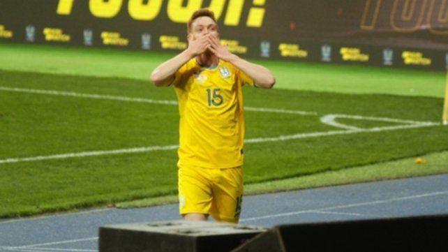 Viktor Tsygankov festeja su tanto