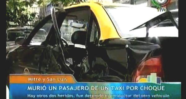 Testigo dice que el choque de Mitre y San Luis ocurrió porque un auto corría una picada