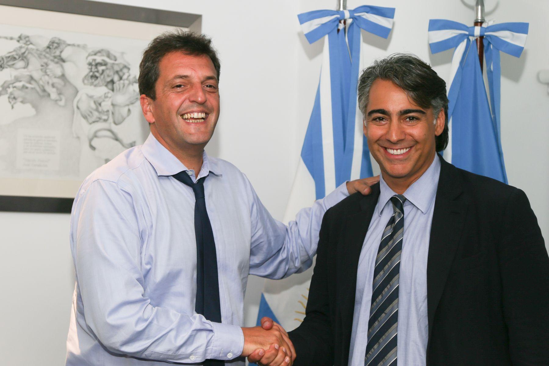 """Massa se reunió con el chileno Marco Enríquez-Ominami y habló  de """"la nueva generación de dirigentes"""" de la región."""